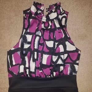 Twenty One dress with silky top and knit bottom, M
